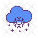 Snow And Cloud Snowflake Cloud Icon