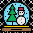 Snow Globe Holiday Icon