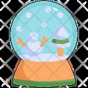 Snow Ball Ball Crystal Icon