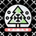 Snow Ball Christmas Crystal Ball Icon
