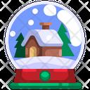 Snow Ball Crystal Ball Christmas Icon