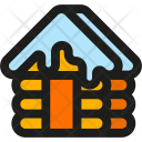 Snow Cabin Icon