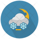 Snow Cloud And Moon Icon