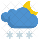 Snow clouds at night Icon
