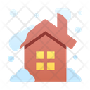 House Snowy House Snowing Icon