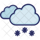 Clouds Snow Winter Icon