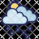 Rain Clouds Sun Icon