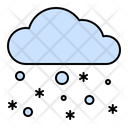 Cloudy Snow Cloud Icon