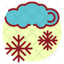 Forecast Snow Falling Snowflakes Icon