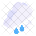 Snow Blizzard Snow Falling Scattered Snow Icon