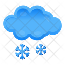 Snow Falling Snowy Weather Cloud Hailing Icon