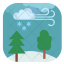 Forest Winter Tree Icon