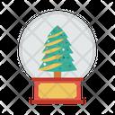 Snow Globe Christmas Decoration Icon