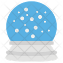Snow Globe Snow Storm Snow Dome Icon