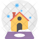Snow Globe Winter Icon