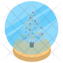 Snow Globe Snow Tree Decorative Globe Icon