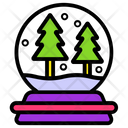 Christmas Globe Snow Globe Snowball Icon
