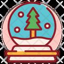 Christmas Ball Snowball Snow Glass Icon