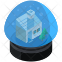 Snow Globe Crystal Icon