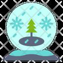 Snow Globe Tree Icon