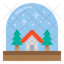 Snow Globe Xmas Christmas Icon