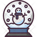 Snow Globe Christmas Ornament Icon