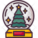 Snow Globe Christmas Tree Snow Icon