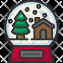 Snow Globe Christmas Tree Snow Icon