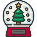 Snow Globe Christmas Christmas Tree Icon