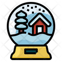 Snow Globe Christmas Crystal Ball Icon