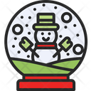 Snow Globe Christmas Decoration Icon