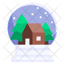 Snow Globe Christmas Tree Icon