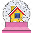 Snow Globe Water Globe Snow Storm Icon