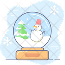 Christmas Holiday Snow Globe Icon