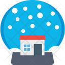 Snow Globe Waterglobe Snowstorm Icon