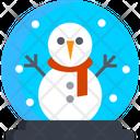Snow Globe Crystal Ball Snowman Icon