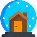 Snow Globe Snowy House Snowfall Icon