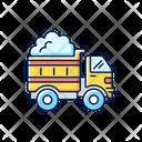Snow Hauling Hauling Truck Icon