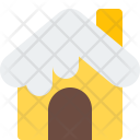 Snowy House Home Icon