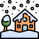 Snow House Winter Icon