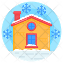 Snow House Winter Snow Falling Icon