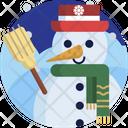 Christmas Snow Man Doll Icon