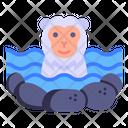 Nihonzaru Snow Monkey Japanese Monkey Icon