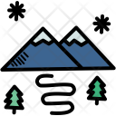 Snow Mountain Scenery Icon
