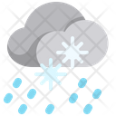 Snow Rain Snow Fall Snowfall Icon