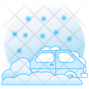 Snowfall Rainstorm Hail Weather Icon
