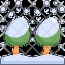Snow Tree Winter Icon