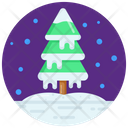 Snow Tree Fir Frozen Tree Icon