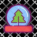 Snow tree globe Icon