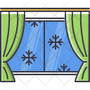 Snow watching from window Icon
